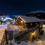 Sierre-anniviers grimentz night village