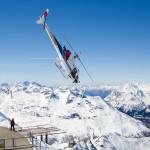 St. Moritz corvatsch top helicopter