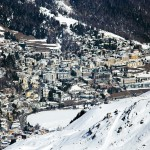 St. Moritz alpine village center