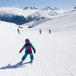 St. Moritz corviglia blue slope