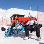 St. Moritz corviglia family skiing