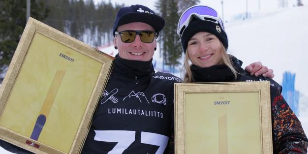 lumilautailun SM crossi Suur-Hamari Nisula 2017