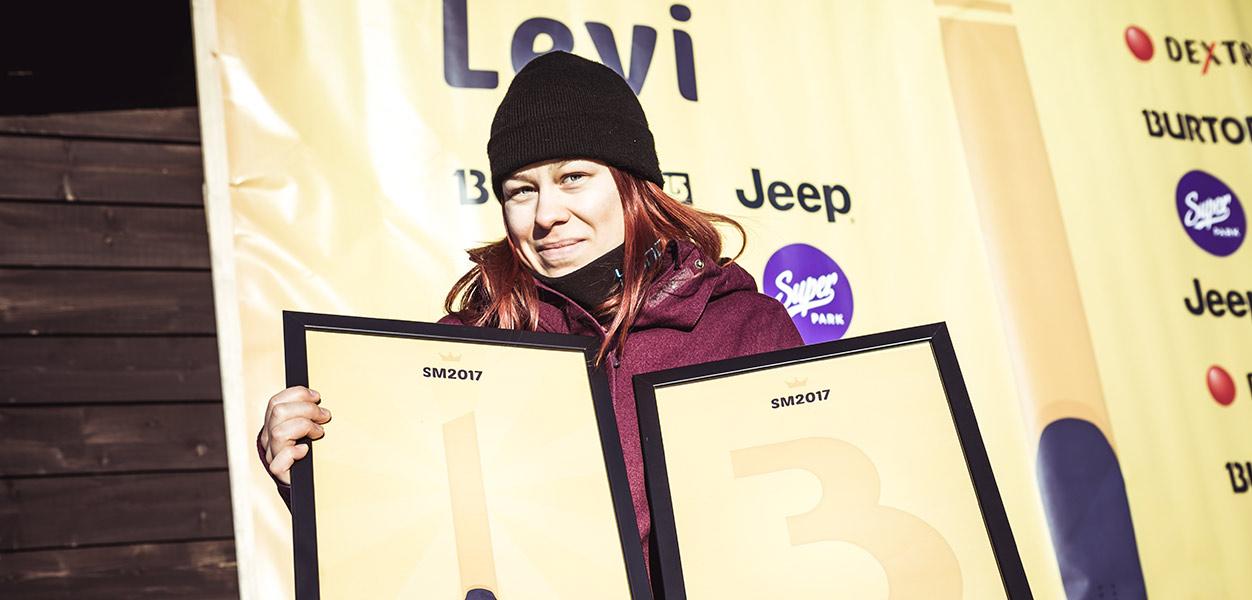 slopestyle SM2017 naiset levi voittaja
