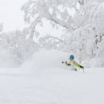 kiroro ski center powder turn