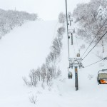 kiroro ski center chair lift