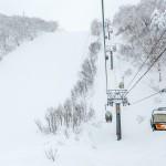 kiroro ski center chair lift