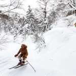 kiroro ski center off piste valley