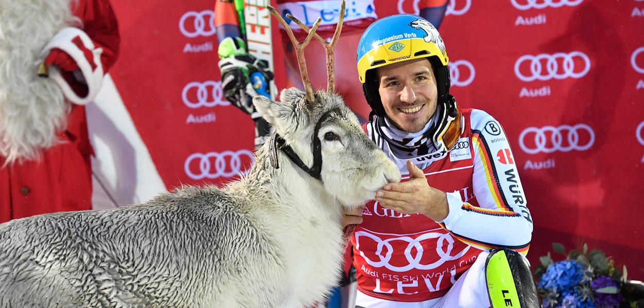 Levi maailmancup 2017 voittaja Neureuther poro