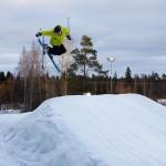 Ruosniemi Pori hiihtokeskus boksi hyppy