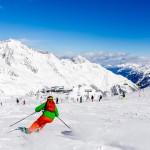 Innsbruck Stubai glacier skiing slope