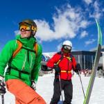 Innsbruck Stubai glacier skiers
