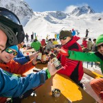 Innsbruck Stubai glacier Fernau terrace beer
