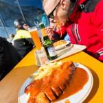 Innsbruck Stubai glacier eisgrat restaurant currywurst
