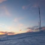 Pyhä Pyhätunturi huippu radiomastot