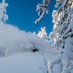 Svanstein ski hiihtokeskus off-piste