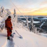 Svanstein ski hiihtokeskus koskematon lumi