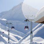Gudauri new gondola ski lift
