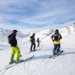 Gudauri heliskiing group valley